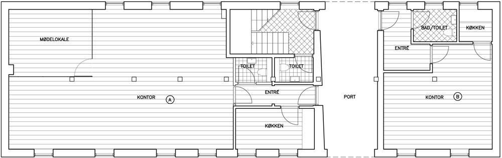 Kontorfællesskabet M32 stueplan